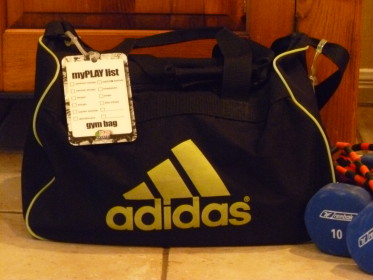 Workout Bag Tag with checklist helping you get all your gym gear in the bag!