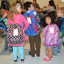 These cute school children are packed up and ready to go for their day at school and activities to follow!